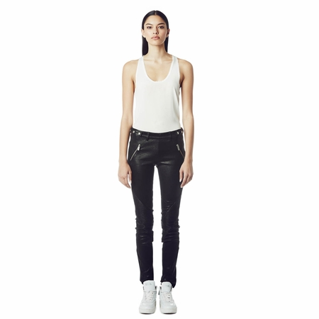Ash Discovery Black Leather Pant 265015 (001)