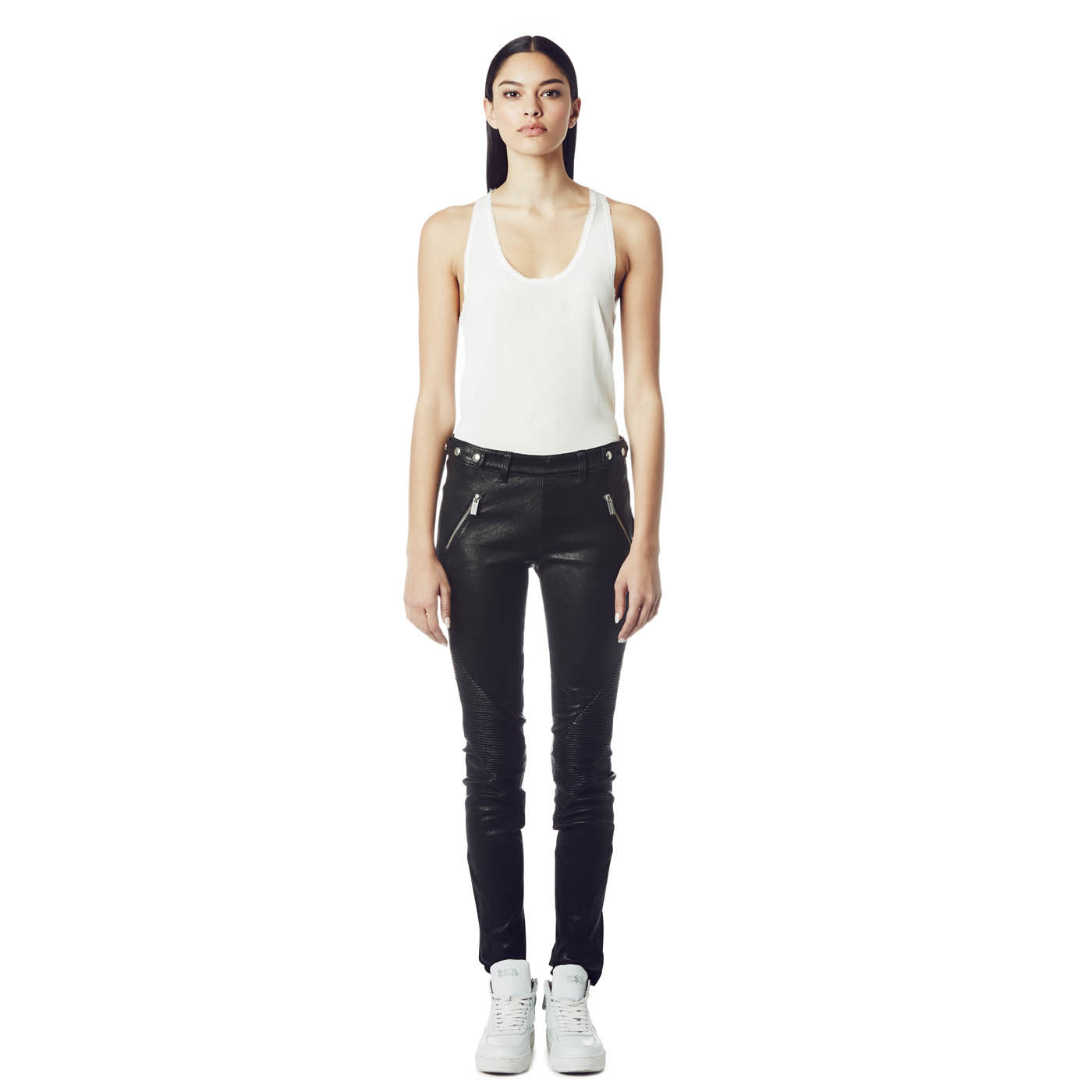 Ash Studio Paris  Discovery Black Leather Pant 265015 (001)