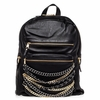 Ash Domino Womens Chain Backpack Black Leather  125073 (005)