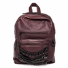 "<font size=""2"" color=""red""> NEW</font><p>Ash Domino Womens Chain Small Backpack Dark Wine Nappa Leather  125072 (641)"