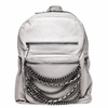 Ash Domino Womens Chain Backpack Stone Grey Leather  125074 (066)