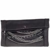Ash Domino Womens Chain Clutch Black Leather  124042 (001)