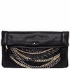 Ash Domino Womens Clutch Handbag Black Leather 125069 (005)