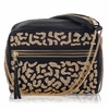 Ash Domino Womens Crossbody Bag Gold/Black Leather 124081 (012)