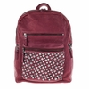 Ash Domino Womens Studded Backpack Wine Leather  124043 (001)