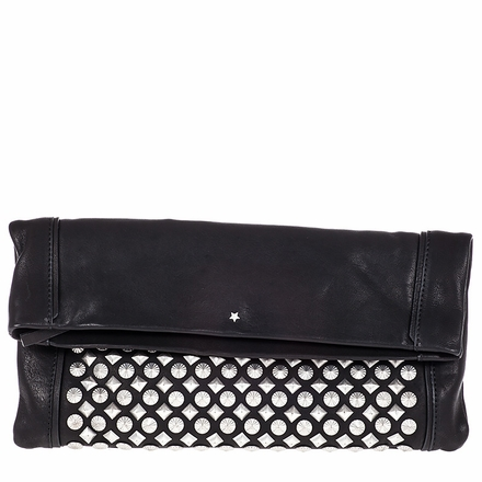Ash Domino Womens Studded Clutch Black Leather  124045 (001)