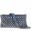 Ash Domino Womens Studded Crossbody Denim Leather  124044 (110)