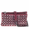 Ash Domino Womens Studded Crossbody Wine Leather  124044 (642)
