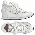 best seller Ash Dreamlace Womens  Sneaker  White Leather and Lace 360060  (115)