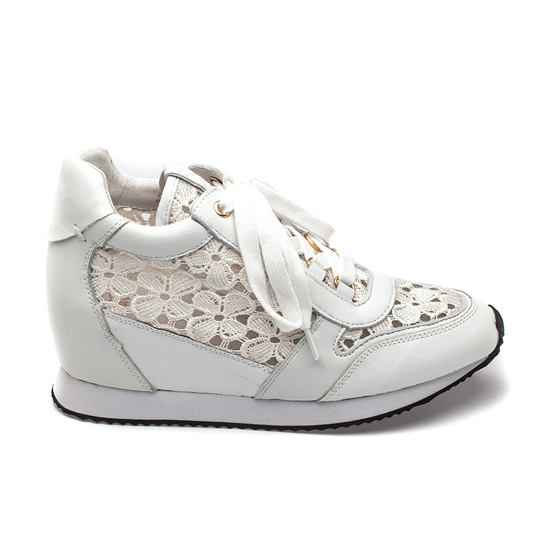 Ash Dreamlace Womens  Sneaker  White Leather and Lace 360060  (115)