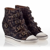 Ash  Eagle Womens Wedge Sneaker Cookie Suede 340003  (296)