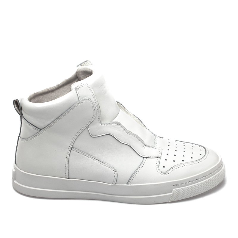 Ash Enigma Womens Wedge Sneaker White Leather 360162 (100)