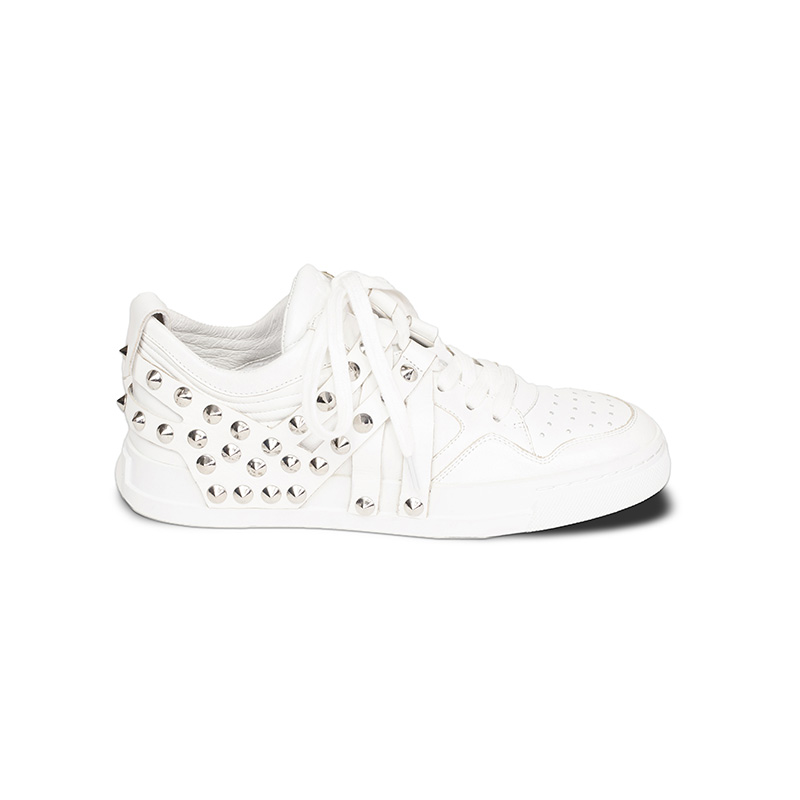 Ash Extra Studded Sneaker White Leather  360051 (113)