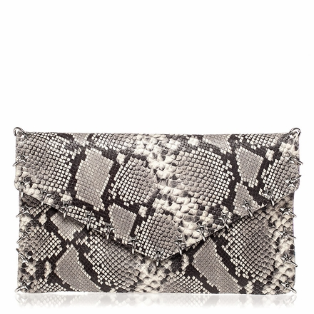 Ash Franki Womens Clutch Natural & Black Snake Print Leather  125020 (101)