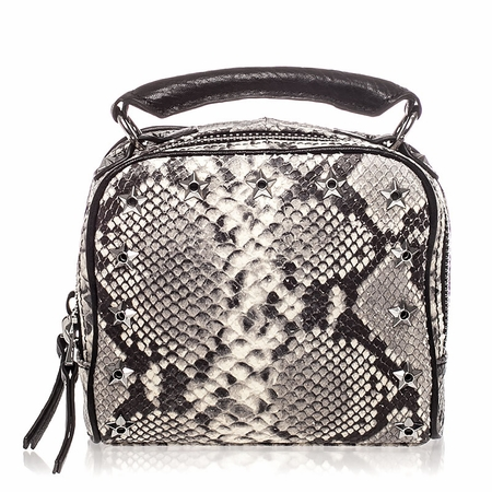 Ash Franki Womens Crossbody Natural & Black Snake Print Leather  125030 (101)