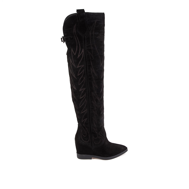 Ash Gaucho Boot Black Suede 360291 (002)