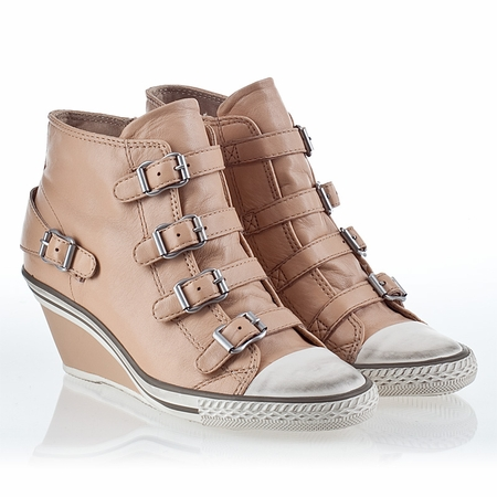 Ash  Genial  Womens Wedge Sneaker Clay Leather 340004 (269)
