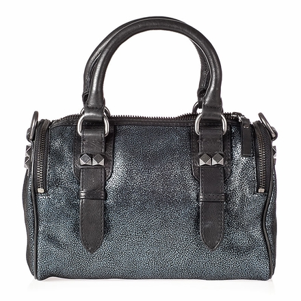 Ash Georgia Womens Crossbody Midnight Cracked  Leather  124004 (405)