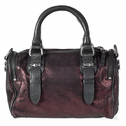 Ash Georgia Womens Crossbody Wine Cracked  Leather  124004 (641)