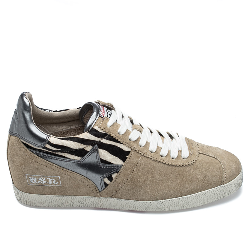 Ash  Guepard Womens Wedge Sneaker Off white  Suede  360298 (974)