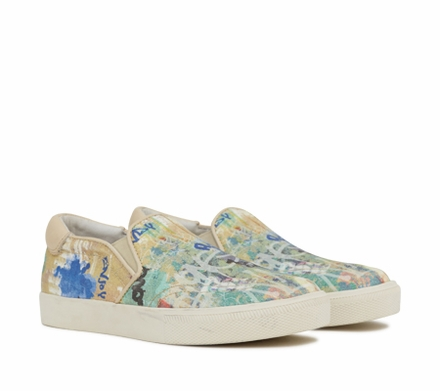 Ash Impuls Bis Womens Slip On  Graffiti Print Fabirc 350170  (267)