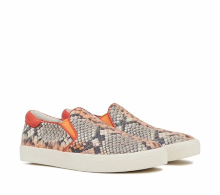 Ash Impuls Womens Slip On  Coral Snake Print Leather 350043  (637)
