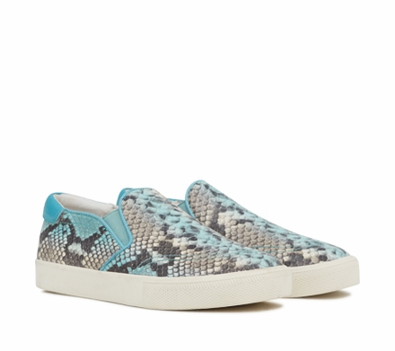 Ash Impuls Womens Slip On  Lagoon Snake Print Leather 350043  (460)