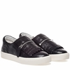 Ash  Instant Womens Sneaker Black Croc Print  Leather 350305 (002)
