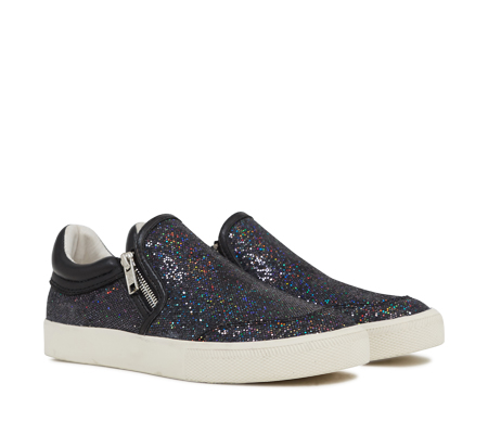 Ash Intense Bis Womens Slip On  Black Multi Glitter Fabric 350056 (002)