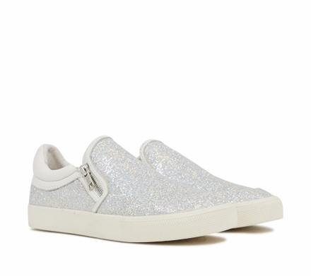 Ash Intense Bis Womens Slip On  Light Silver Multi Glitter Fabric 350056 (046)