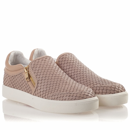 Ash Intense Womens Slip On  Taupe Snake Print Leather 350055 (290)