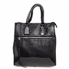 Ash Jagger Womens Tote Bag Black Textured Leather  125066 (001)