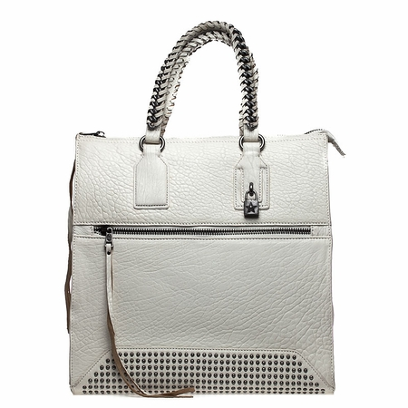 Ash Jagger Womens Tote Handbag White Textured Leather  125066 (100)