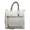 Ash Jagger Womens Tote Bag White Textured Leather  125066 (100)