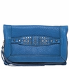 Ash Jax Womens Clutch Azure Blue Textured  Leather  125052 (445)