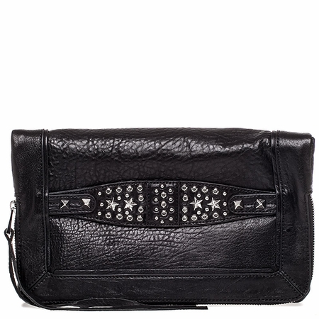 Ash Jax Womens Clutch Black Textured  Leather  125052 (001)