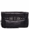 Ash Jax Womens Clutch Handbag Black Textured  Leather  125052 (001)