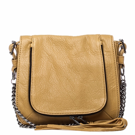 Ash Jax Womens Crossbody Handbag Tan Textured Leather  125053 (262)