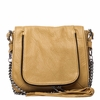 Ash Jax Womens Crossbody Bag Tan Textured Leather  125053 (262)
