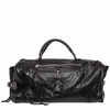 Ash Jax Womens Weekender Bag Black Textured  Leather  125055 (001)