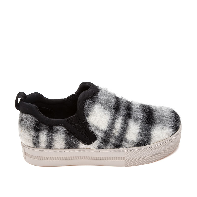 Ash Jessi Womens Slip On  Black and White Wool 360386  (978)