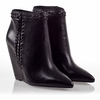 Ash Jessy  Womens Wedge Boot  Black Leather 330399 (001)
