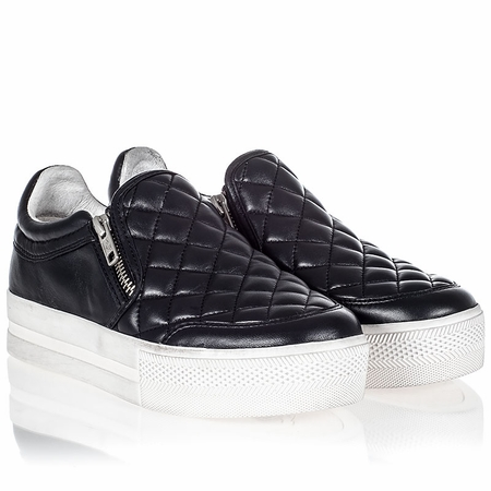 Ash Jodie Womens Sneaker Black Quilted Leather 340719 (001)