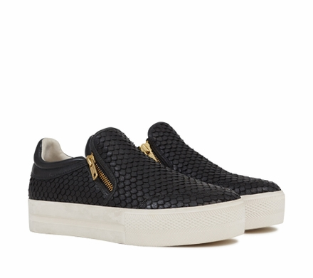 Ash Jordy Womens Sneaker Black Snake Print Leather 350065 (002)