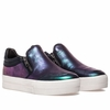 Ash Jordy Womens Sneaker Purple Midnight Metallic Leather 350409 (557)