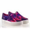 Ash Jungle Bis Womens Slip On  Sneaker Ink Pink Multi Canvas  340019 (010)