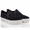 Ash Jungle Womens Slip On  Black Distressed Suede 340618  (002)