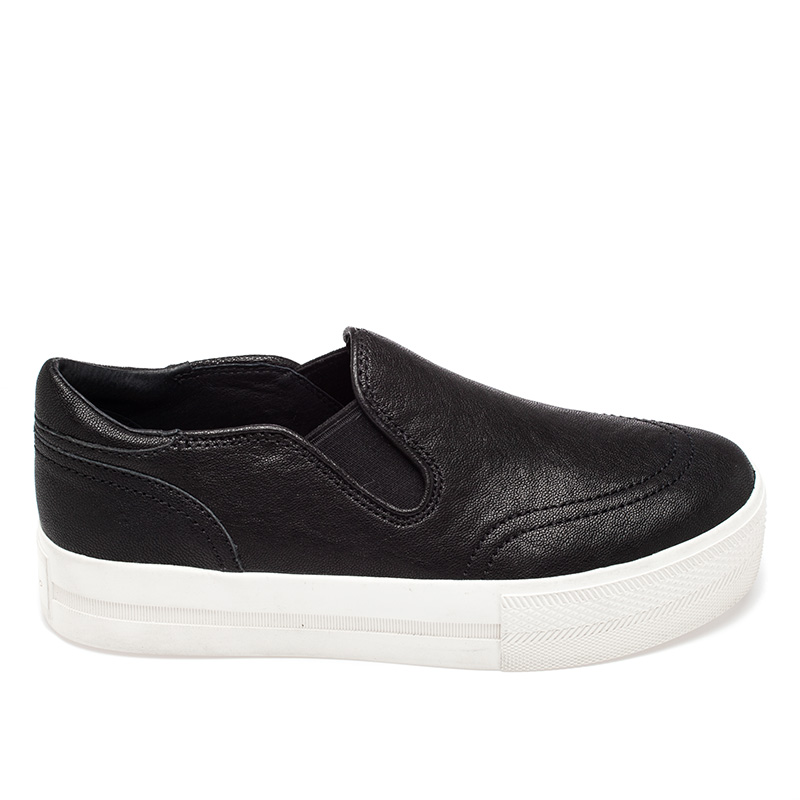 Ash Jungle Womens Slip On  Black Leather 350072  (001)