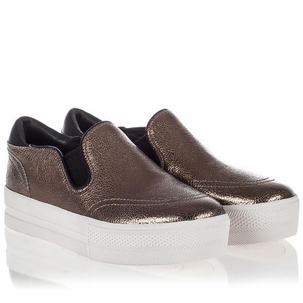 Ash Jungle Womens Slip On  Bronze Crackle Leather 340772  (239)