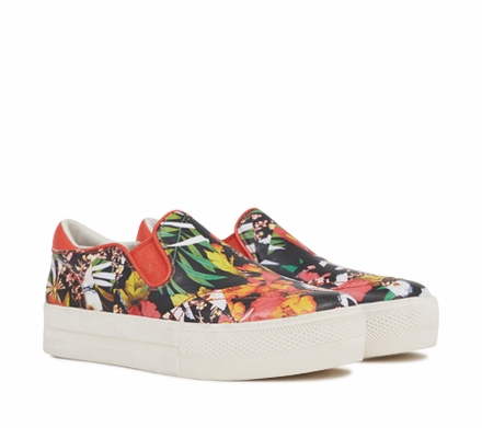 Ash Jungle Womens Slip On  Multi Coral Graphic Print Leather 350071  (935)